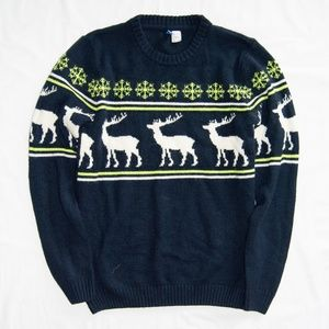 H&M Divided Reindeer Sweater